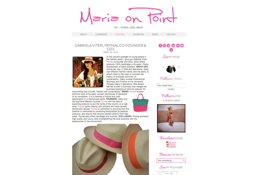 Maria on Point – Apr 2013