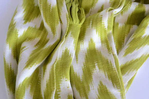 ikat, scarf, lime