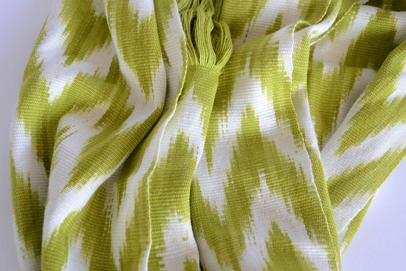 ikat, scarf, lime