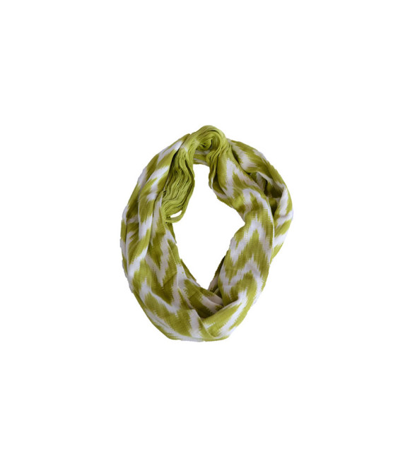 _0002_Ikat Rounded Scarf Lime Prymal website