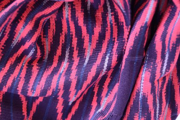 _0003_Ikat Rounded Scarf Fuchsia Prymal zoom2