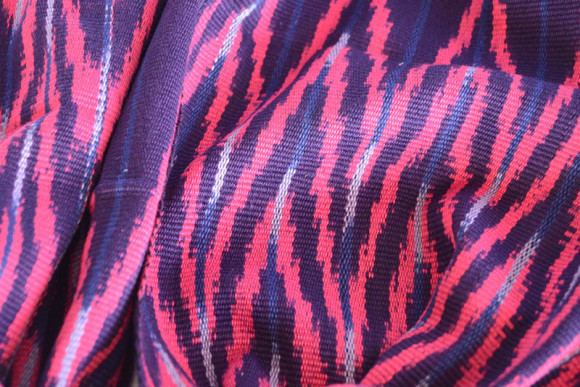 _0004_Ikat Rounded Scarf Fuchsia Prymal zoom