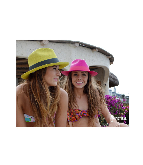 Prymal, hats, panama hat, neon