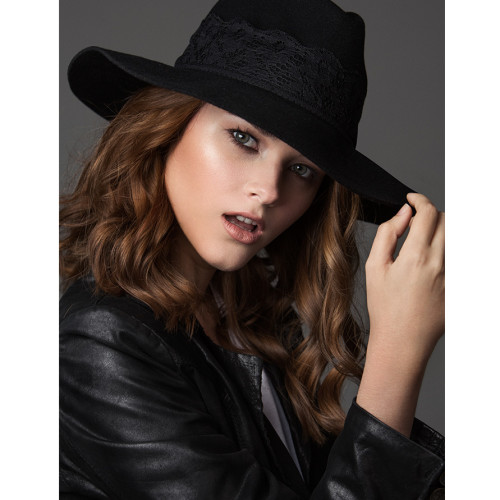 prymal, panamahat, hats, felt, black, lace