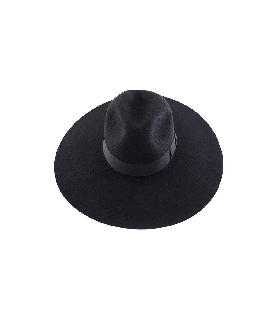 04925d5289760 Felt Hat Fedora Extra Wide Black - Handmade in Ecuador by G.VITERI