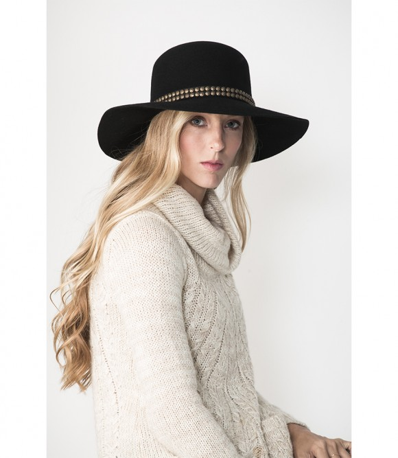 felt, hat, accessories, floppy, black