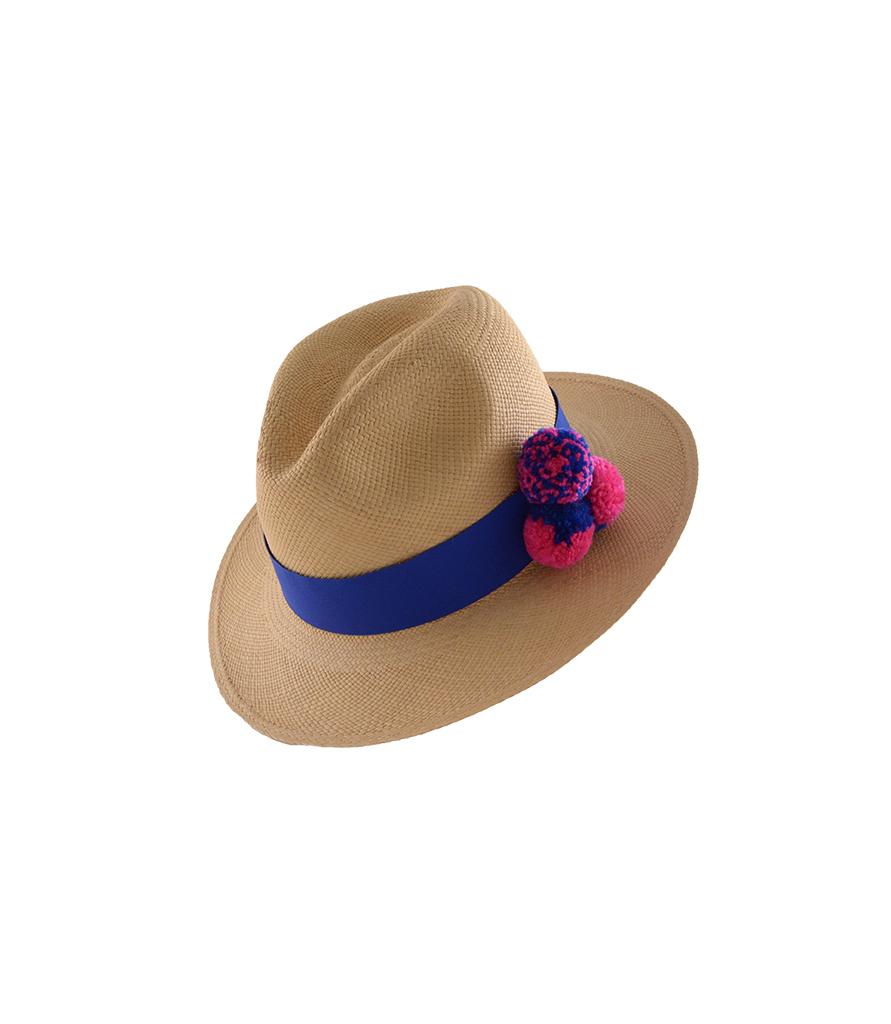 9359e663 GVITERI, hat, panamahat, pompom