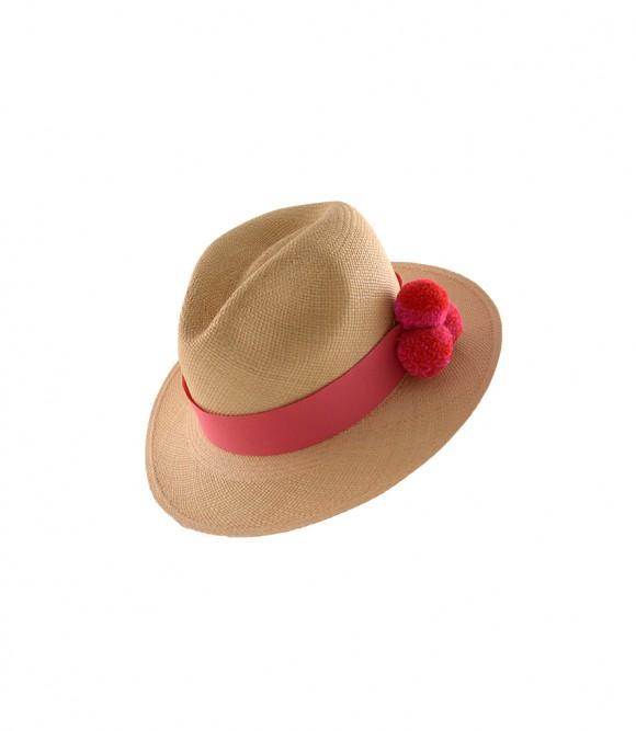 GVITERI, hat, panamahat, pompom