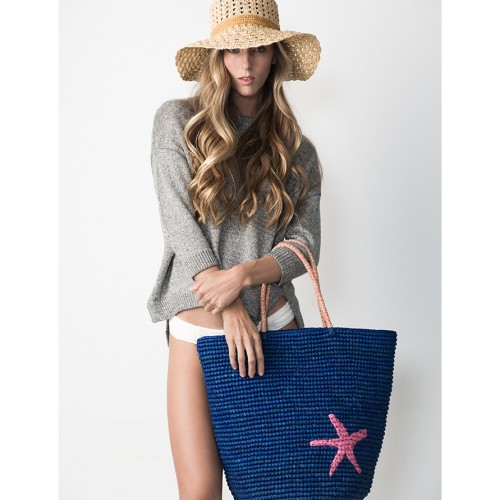 tote, beach, summer, seastar