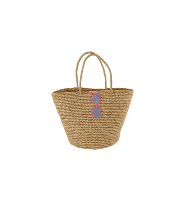 Sunglasses straw tote