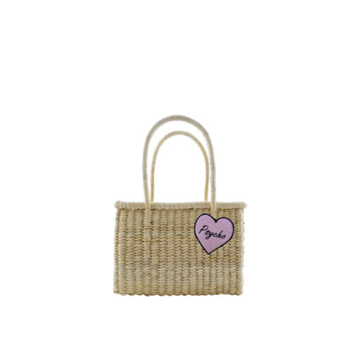Basket pink heart psycho patch