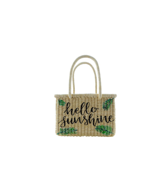 Straw Basket Bag Handriwtten