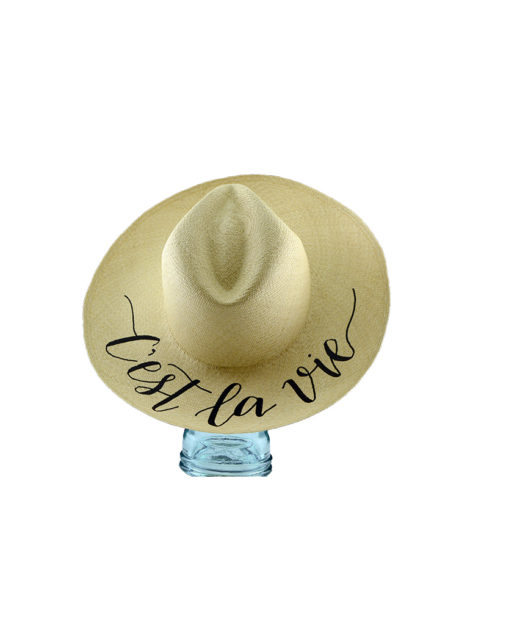 Shade hat customizable calligraphy