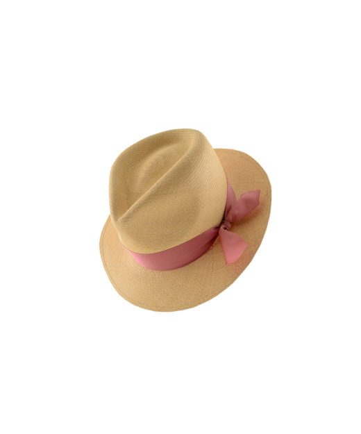 Waterdrop natural pink knot hat