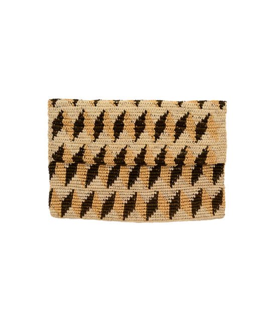 ZigZag straw Clutch