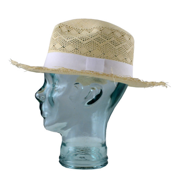 Semi Calado Frayed straw hat