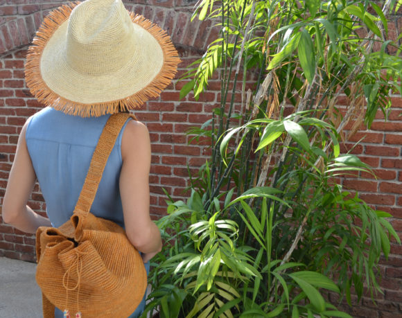 Frayed Hat Backpack Camel