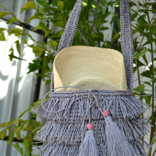 bucket grey fringe