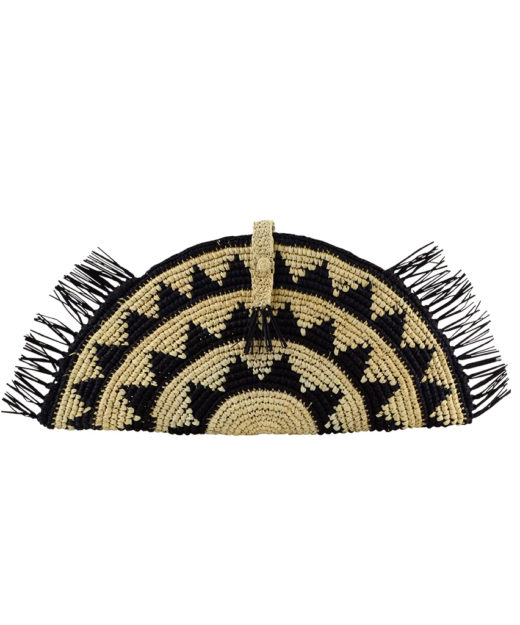 Fringe Clutch Black