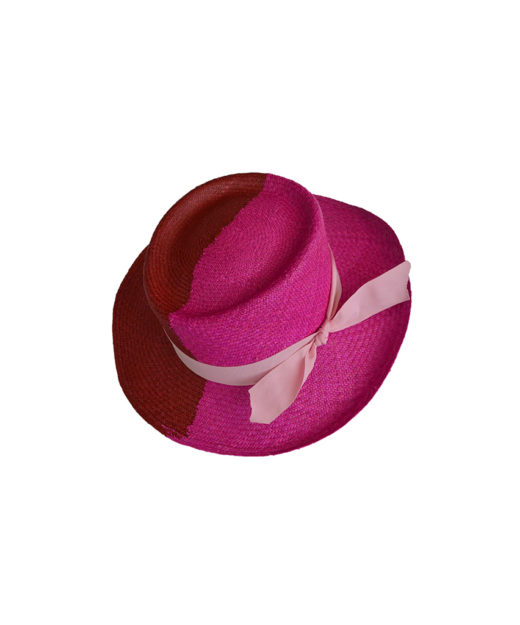 Colorblock Fuchsia Hat