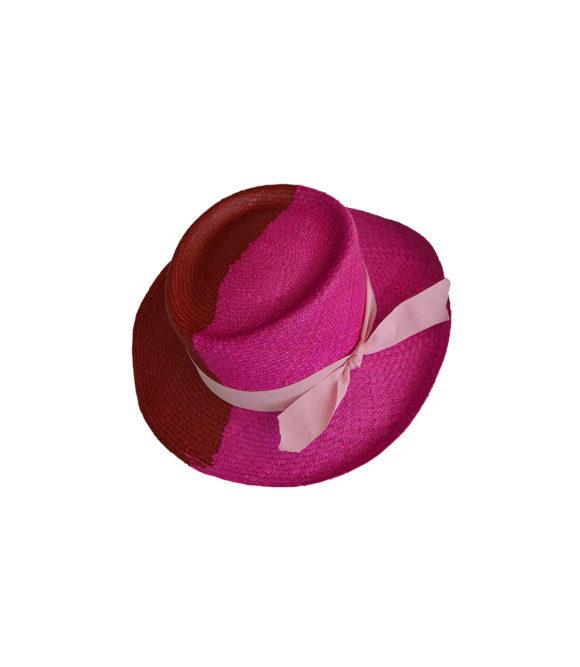 Colorblock Fuchsia Hat