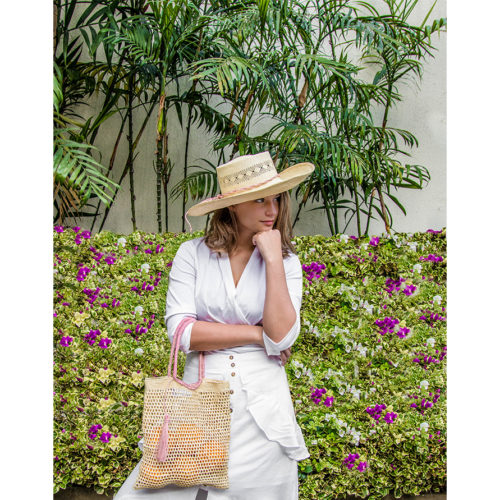 calado hat and loutra bag