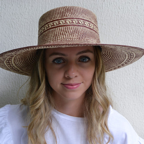 Brick Patterned Sun Hat