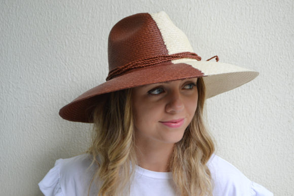Bicolor Brick and Natural Hat