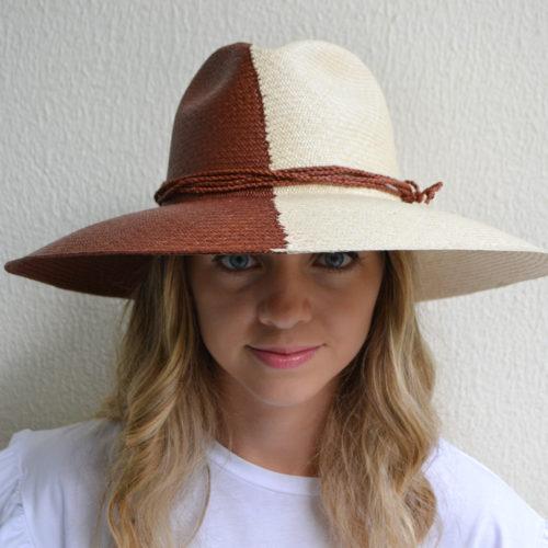 Bicolor Brick and Natural Hat