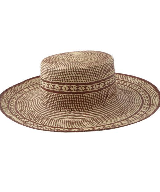 Brick Patterned Sun Hat