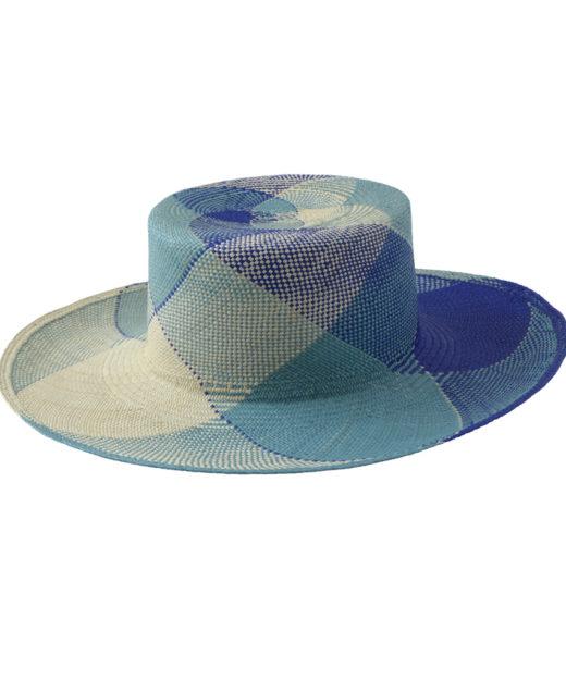 Plaid Blue Sun Hat