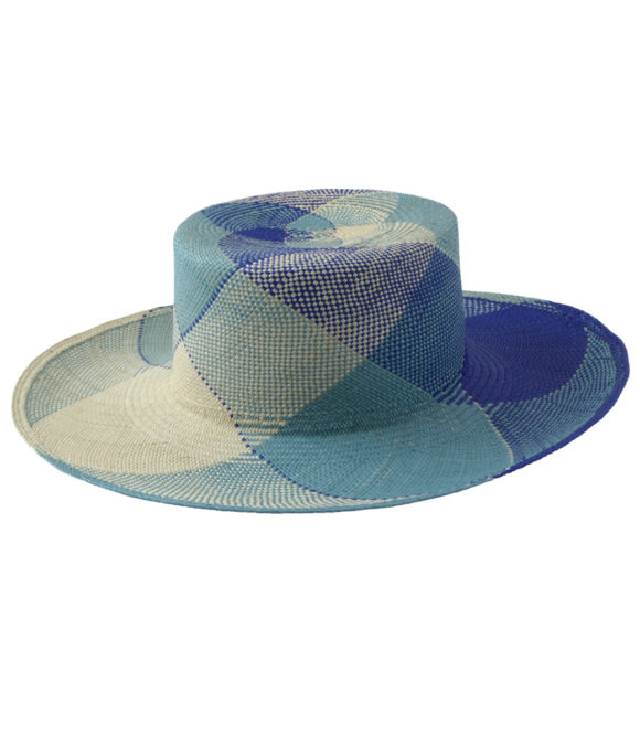 Plaid Blue Sun Hat