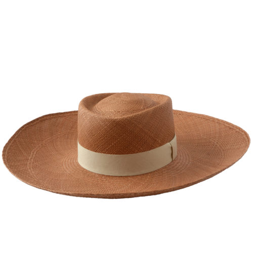 Light Brown Wide Brim Hat