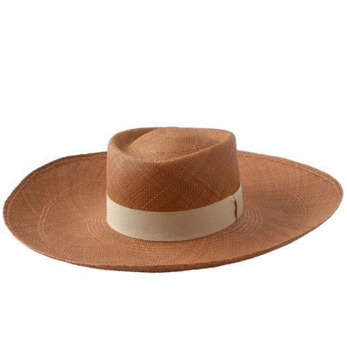 Light Brown Wide Brim Hat