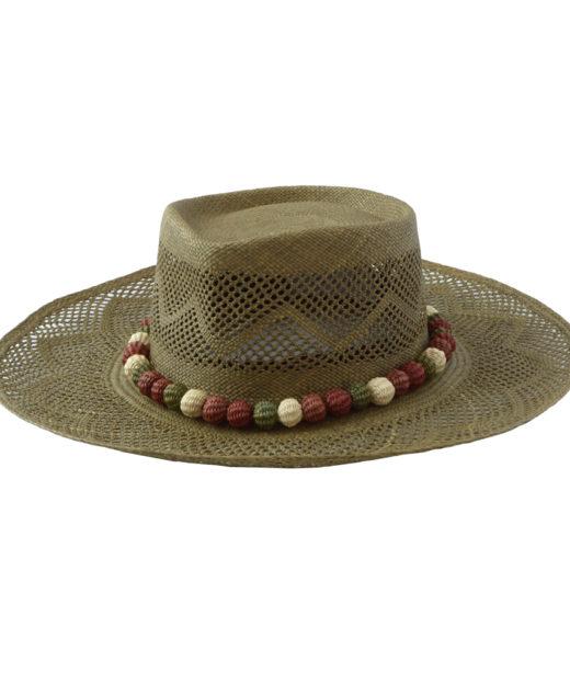 Olive green calado sun hat