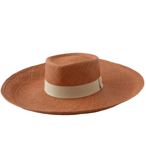 Brown Wide Brim Hat