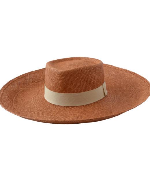 Brown Wide Brim Hat