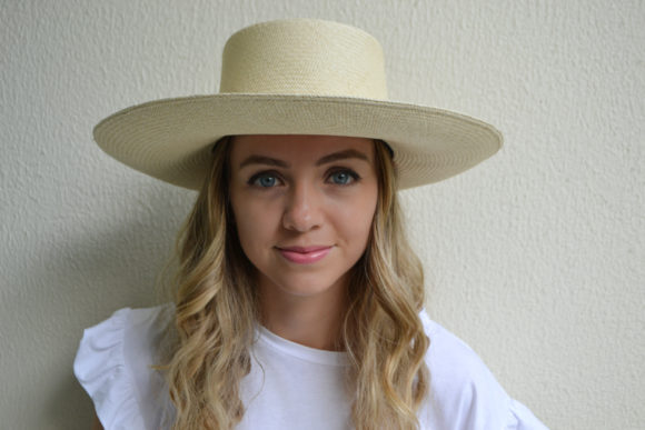 Natural Planter Hat with Melon Rope