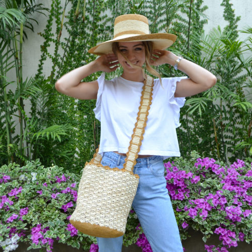 Camel Hat and Soft Crochet Bag