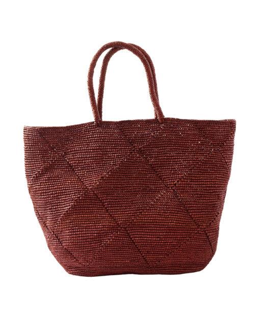 Crochet Soft Straw Bag in Brown